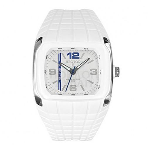 Muški Hector H Digitalni Sportski Kvadratni Beli ručni sat sa gumenim kaišem