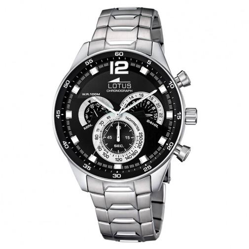 Muški Lotus Chrono Crni Sportski ručni sat sa brzinometrom