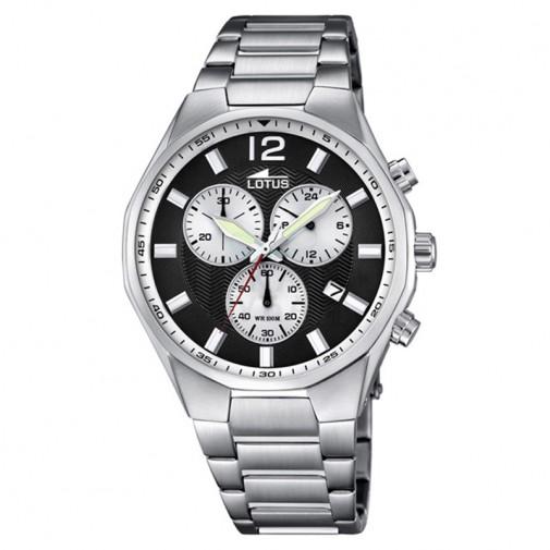 Muški Lotus Chrono Crno Beli Sportski ručni sat sa datumom