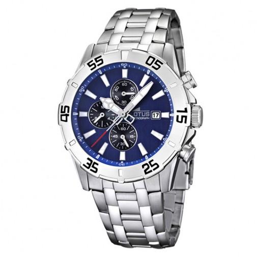 Muški Lotus Chrono Plavi Sportski ručni sat sa rotirajućom koronom