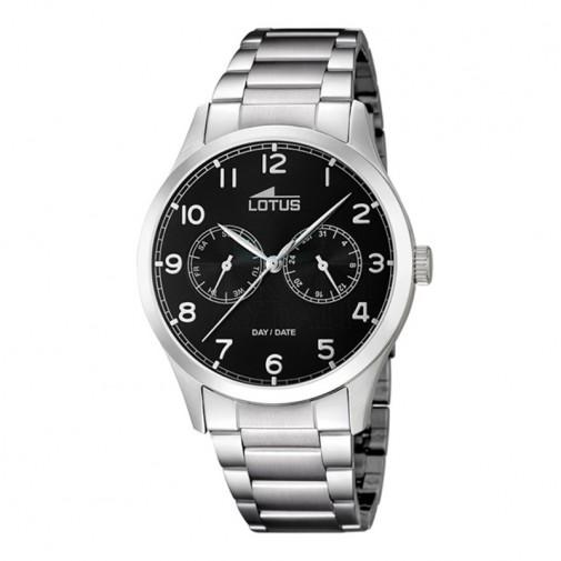 Muški Lotus Minimalist Multifunction Dan Datum Crni Elegantni ručni sat