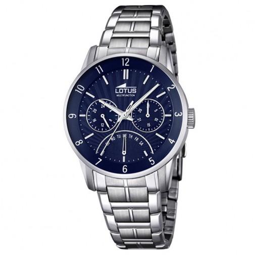 Muški Lotus Multifuncion Plavi Elegantni ručni sat sa metalnim kaišem
