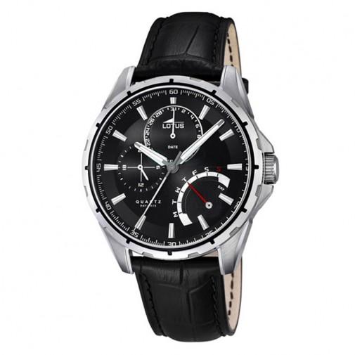 Muški Lotus Smart Casual Day Date Crni ručni sat