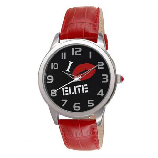 Ženski Elite Crveni Modni ručni sat sa crvenim kožnim kaišem