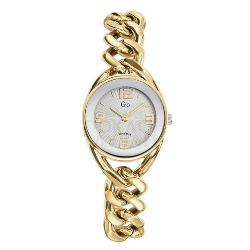 Ženski Girl Only Cercle Zlatni Modni ručni sat sa pletenim zlatnim metalnim kaišem