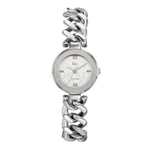 Ženski Girl Only Cercle Srebrni Modni ručni sat sa pletenim srebrnim metalnim kaišem