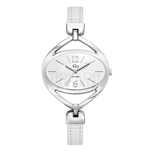 Ženski Girl Only Couleur Beli Elegantni ručni sat sa belim kožnim kaišem