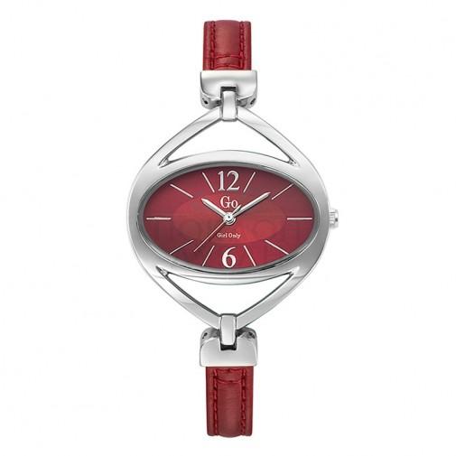 Ženski Girl Only Couleur Crveni Elegantni ručni sat sa crvenim kožnim kaišem