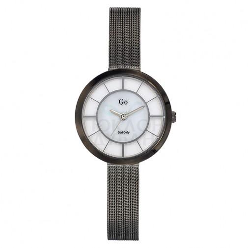 Ženski Girl Only Eblouis moi Sivi Elegantni ručni sat sa sivim pancir metalnim kaišem