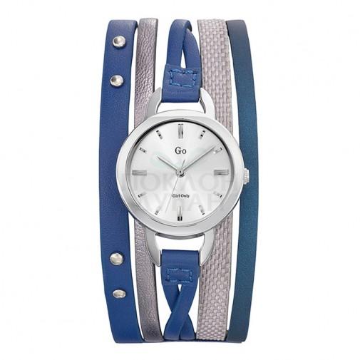 Ženski Girl Only Enlace moi Plavi Elegantni ručni sat sa plavim kožnim kaišem