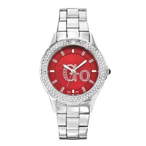 Ženski Girl Only Go Cristaux Crveni Modni ručni sat sa metalnim kaišem