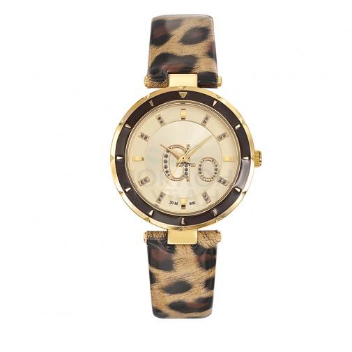 Ženski Girl Only Go Zlatni Modni ručni sat sa print kožnim kaišem