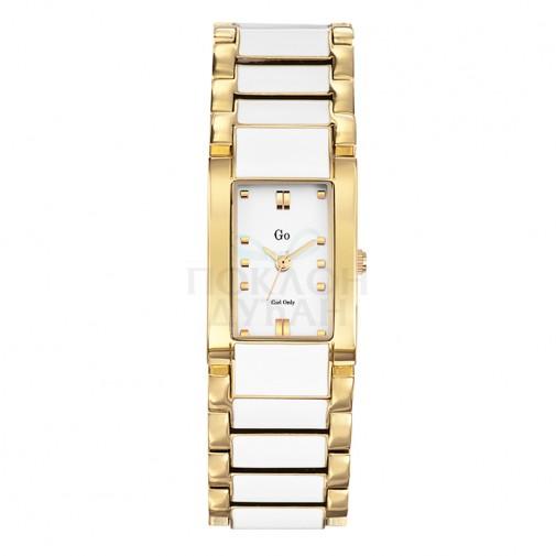 Ženski Girl Only Laque Zlatni Elegantni Kvadratni ručni sat sa metalnim kaišem
