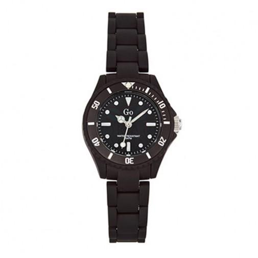 Ženski Girl Only Noir et Blanc Crni Sportski ručni sat sa crnim gumenim kaišem i minutnom skalom