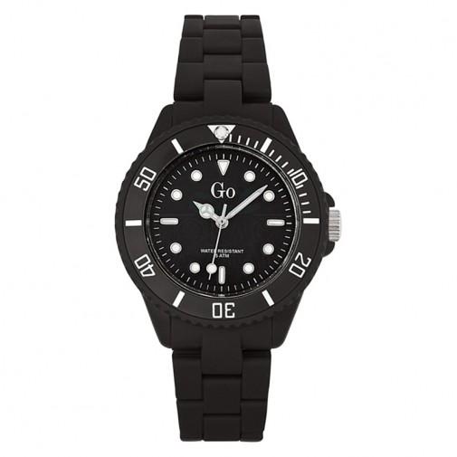 Ženski Girl Only Noir et Blanc Crni Tanki Sportski ručni sat sa plastičnim kaišem i minutnom skalom