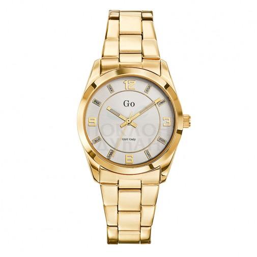 Ženski Girl Only Or et Rose Modni Zlatni ručni sat sa zlatnim metalnim kaišem