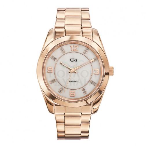 Ženski Girl Only Or et Rose Modni Roze Zlatni ručni sat sa roze zlatnim metalnim kaišem