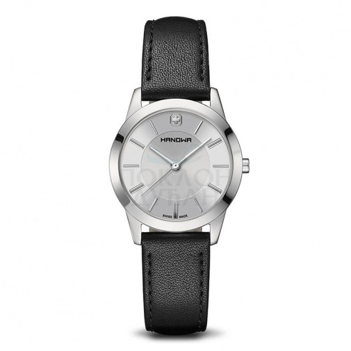 Ženski Hanowa Swiss Elements Srebrni Crni ručni sat