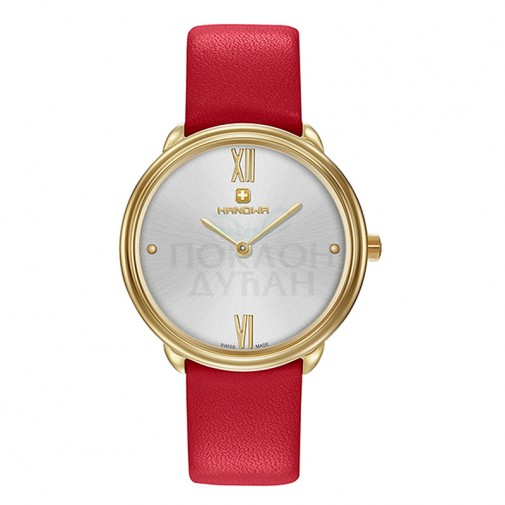 Ženski Hanowa Swiss Franca Zlatni Crveni ručni sat