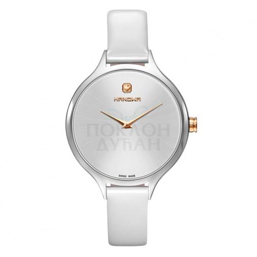 Ženski Hanowa Swiss Glossy Beli ručni sat