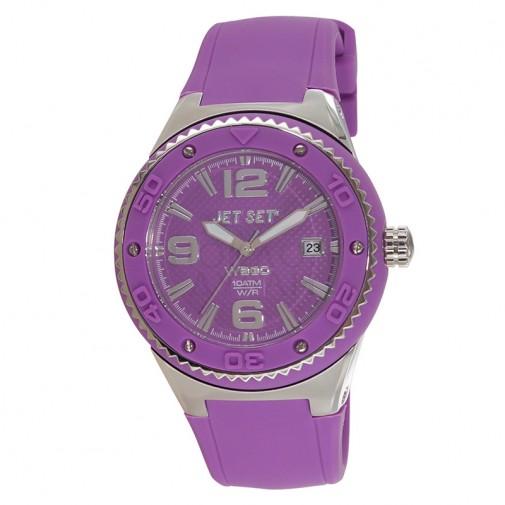 Ženski Jet Set WB30 Ljubičasti ručni sat sa gumenim kaišem