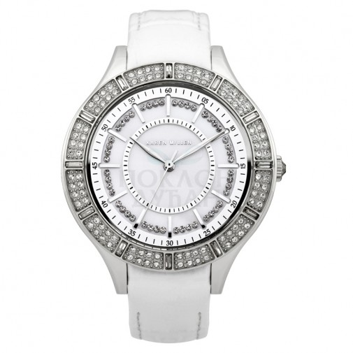 Ženski Karen Millen Srebrni Modni Beli ručni sat