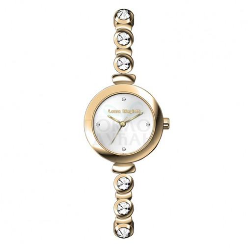 Ženski Laura Biagiotti Phoebe Tanki Zlatni Beli Elegantni ručni sat