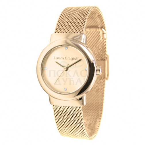 Ženski Laura Biagiotti Twice Zlatni Elegantni ručni sat