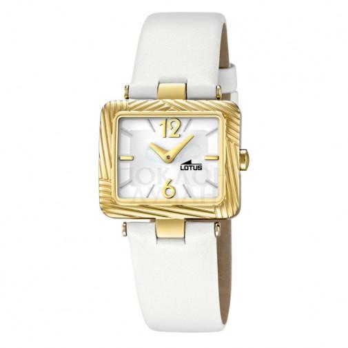 Ženski Lotus Cool Kvadratni Zlatni Beli Elegantni Tanki ručni sat