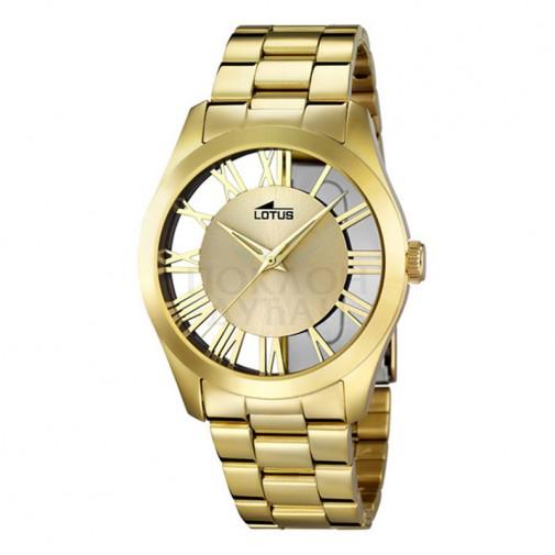 Ženski Lotus Trendy Roman Zlatni Modni ručni sat