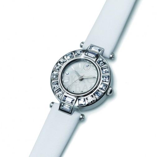 Ženski Oliver Weber Crystal Beli Modni ručni sat sa swarovski kristalima