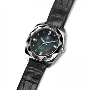 Ženski Oliver Weber Crni Elegantni ručni sat sa swarovski kristalima