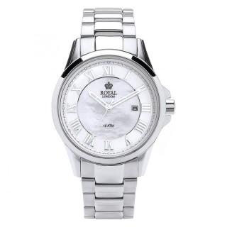 Muški Royal London Iconic Sedef Beli Elegantni ručni sat sa metalnim kaišem