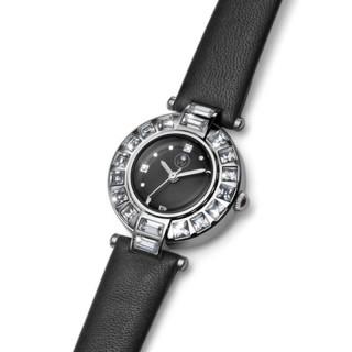 Ženski Oliver Weber Crystal Crni Modni ručni sat sa swarovski kristalima