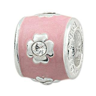 Amore Baci Cvet Roze srebrni privezak za narukvicu