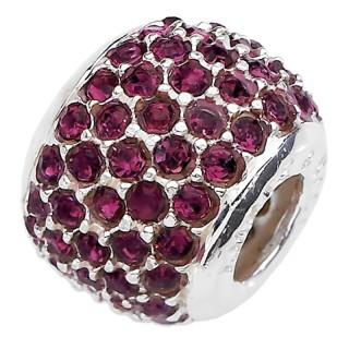 Amore Baci Karmin Crvena srebrni privezak sa swarovski kristalom za narukvicu