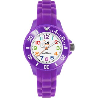 Dečji Ice Watch Ice Mini Purple Beli Ljubičasti Sportski Ručni Sat Sa Ljubičastim Plastičnim Kaišem