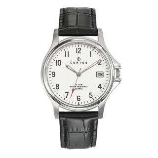 Muški Certus Datum Elegantni ručni sat sa crnim kroko kožnim kaišem