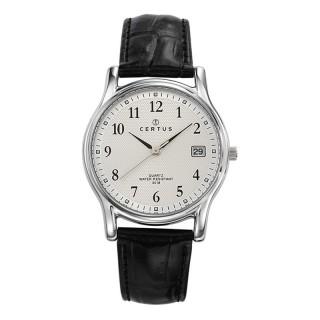 Muški Certus Kvarcni Elegantni ručni sat sa crnim kroko kožnim kaišem