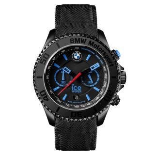 Muški Ice Watch BMW Moto Sport Crni Sportski Hronograf Ručni Sat Sa Crnim Silikonskim Kaišem