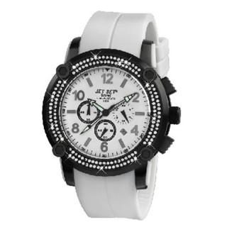 Muški Jet Set Beirut Hronograf Sportski Beli ručni sat sa gumenim kaišem