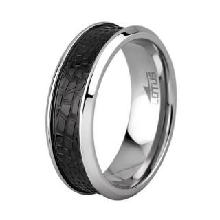 Muški Lotus Style Steel Rings širi Staklo Crni Prsten Od Hirurškog Čelika 66