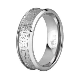 Muški Lotus Style Steel Rings širi Staklo Prsten Od Hirurškog Čelika 64