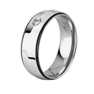 Muški Lotus Style Steel Rings prsten od hirurškog čelika sa kristalom 62