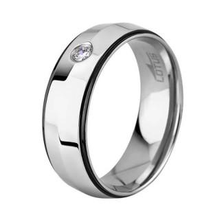 Muški Lotus Style Steel Rings Prsten Od Hirurškog Čelika Sa Kristalom 66