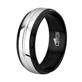 Muški Lotus Style Steel Rings Crno Srebrni Prsten Od Hirurškog Čelika 66