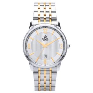 Muški Royal London Legacy Arabic Srebrni Elegantni ručni sat sa bikolor metalnim kaišem