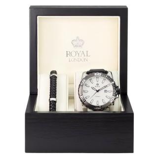 Muški Royal London Poklon Set Ručni Sat i Narukvica