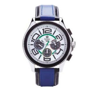 Muški Royal London Sporty Hronograf Beli Sportski ručni sat sa plavim kožnim kaišem
