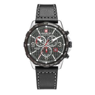 Muški Swiss Military Ace Chrono Crni Sportski ručni sat sa crnim kožnim kaišem